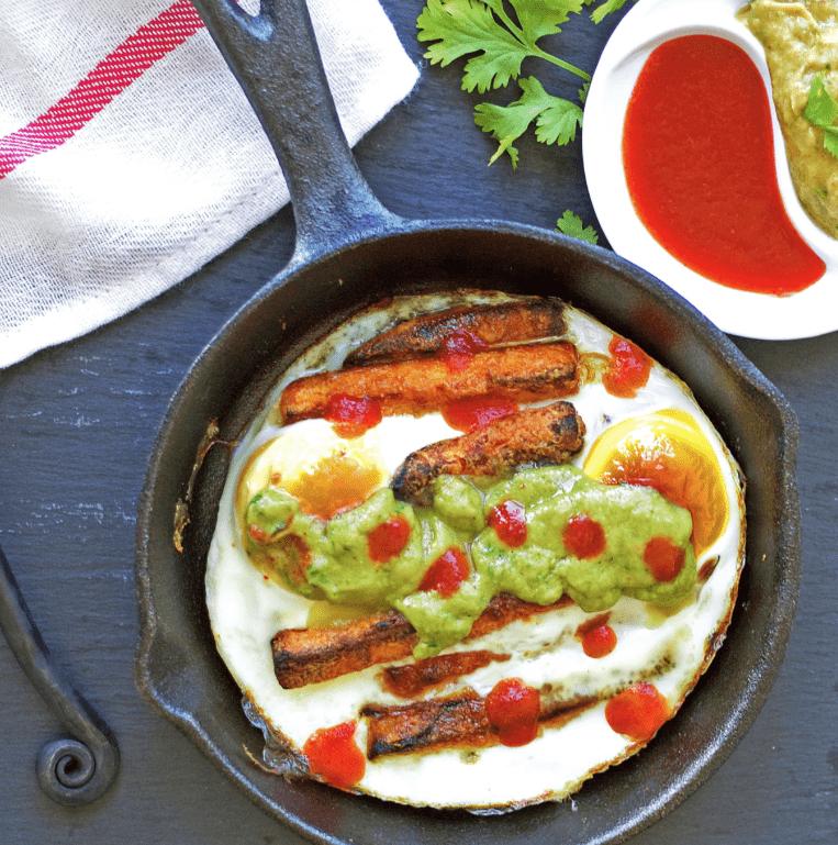 receta aguacate y patata a la sarten